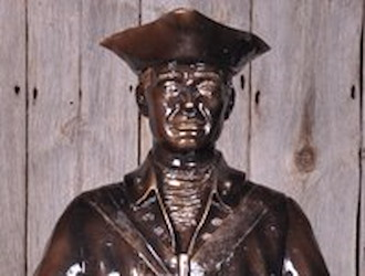 The Revolutionary War Minuteman is sponsored by Thomas Hickey.