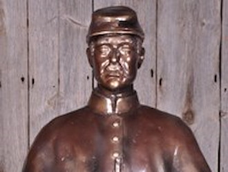 The Civil War statue is sponsored by Wendell & Peggy Rice, Bill Kloster & Deborah Rice.