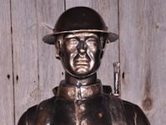 The World War One statue is sponsored by Robert Johns.