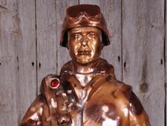 The Persian Gulf War statue was sponsored by Greg & Brenda Banfield